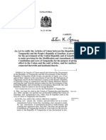 Document signed by Nyerere to make Tanzania