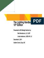 IES Lighting Handbook 10th Edition Primer Slides