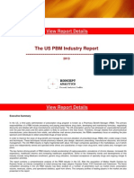 The US Pharmacy Benefit Management (PBM) Industry Report