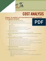Cost Analysis Checklist