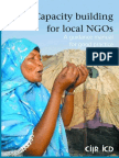 Capacity Building for Local NGOs a Guidance Manual for Good Practicex1x