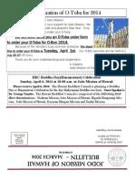 Jodo Mission of Hawaii Bulletin - March 2014