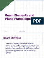 Beams and Frames