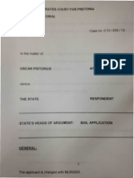 Oscar Pistorius charge sheet
