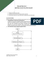 Praktikum 1 (Algoritma Dan Flowchart)