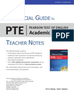 Official Guide PTEA Teacher Notes