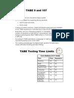 TABE Workshop Handout
