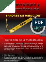 Meteorología y Normalización -errores  de medicion