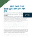 Prepare for the 4th Edition of API 682
