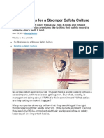 Six Strategies for a Stronger Safety Culture