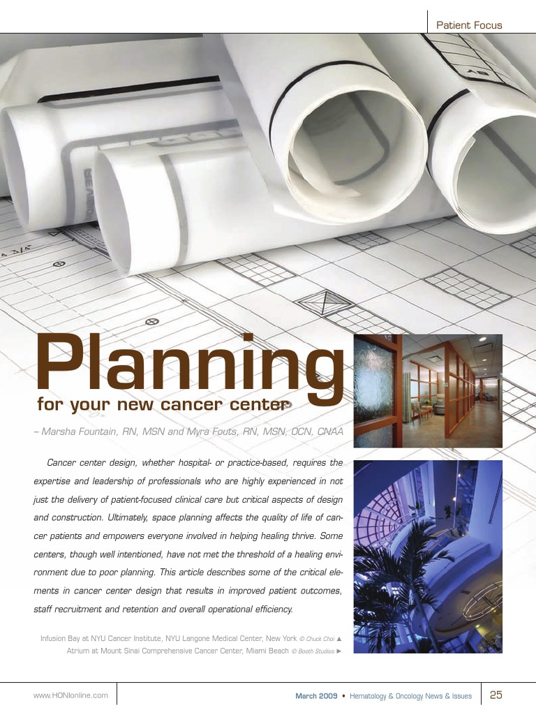 Planning for Your New Cancer Center | Cancer | Clinical Trial