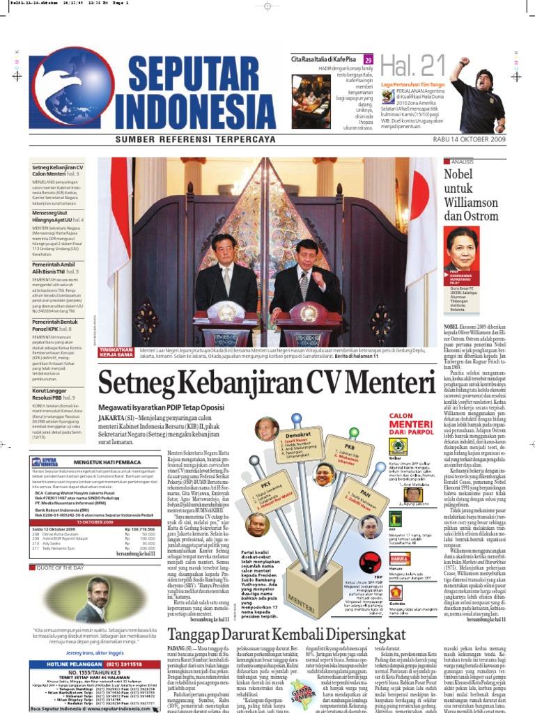 Epaper Harian Seputar Indonesia 14 Oktober 2009 Produk Ukm Bumn Nomor Rumah Motif Apel
