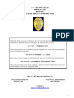 Police Recruit Study Guide