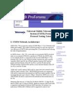UMTS Protocols and Protocol Testing Tutorial