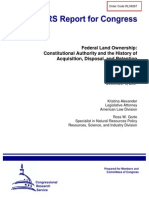 GAO-Federal Land Ownership Constitutional Authority and the History of Acquisition, Disposal, And Retention