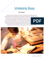 Essay Guide for Scholarship