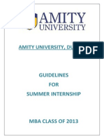 Student Guidelines for Internship-class of 2013 PDF