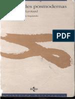Lyotard Jean Francois - Moralidades Posmodernas