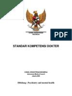Standard Kompetensi Dokter Dibidang Psychiatry and Mental Health_2012