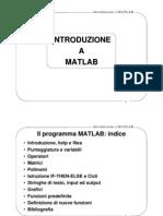 1. Introduzione a Matlab
