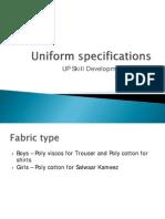 Uniform Specifications