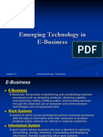 A very important powerpoint presentation on the topic of emerging technologies in E-business, e-commerce, e-procurement and e-services