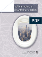Building and Managing a Global PA Function (by the Public Affairs Council)