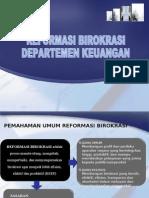 20091009 PENGANTAR REFORMASI BIROKRASI DEPKEU