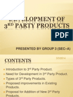Development of 3rd Party Product (2)