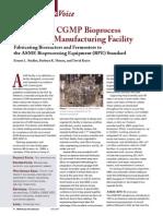 Designing a CGMP Bioprocess
