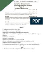 examination paper-2012