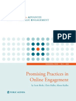 Promising Practices in Online Engagement