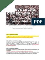 A REVOLUÇÃO COMEÇA DIA 5 ... ARTIGOS DA CONSTITUIÇÃO DA REPÚBLICA PORTUGUESA QUE LEGITIMAM A AÇÃO ...