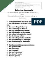 The Belonging Apostrophe