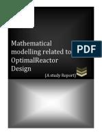 m.m.for Optimal Reactor Design.