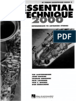Essential Technique - Tenor Sax