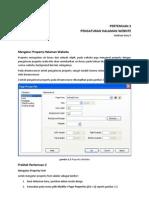 Mengatur Properties Web