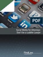 FindLaw Social Media for Attorneys Miniguide