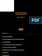 TRANSHUMANISME ET SINGULARITE - Denis FAILLY
