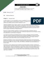 New 2014 Portland Police Discipline Memo and Guide