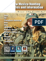 New Mexico Game and Fish 2014 Hunting Rules and Info