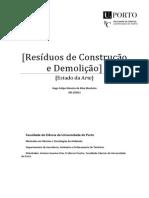 Resíduos de Construção e Demolição – Estado da Arte