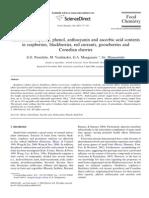 Antioxidant Capacity, Phenol, Anthocyanin and Ascorbic Acid Contents