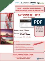 AutoCAD 2D 2014   -Febrero  2014