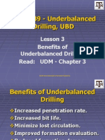 Lesson 3 Benefits of Underbalance Drilling