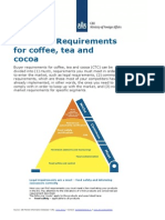 2013 Eu Buyer Requirements - Coffee Tea and Cocoa