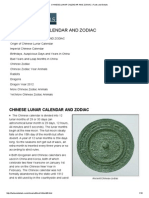 Chinese Lunar Calendar and Zodiac _ Facts and Details