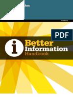 Publication Better Info Handbook