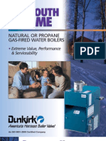 Dunkirk PWX Cast Iron Gas Fired Hot Water Boiler Brochure