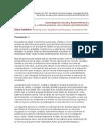 Investigacion Social y Autoreferencia